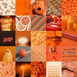 Orange photo wall kit.